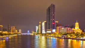 The pearl river and the bridges at night 2 Royalty Free Stock Photography