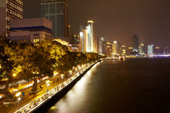Pearl river bund. At night Royalty Free Stock Image
