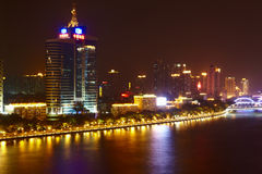 Pearl River embankment at night Stock Images