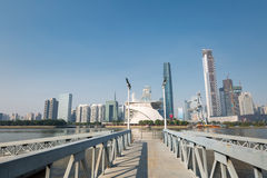 Pearl river and modern building Royalty Free Stock Photo