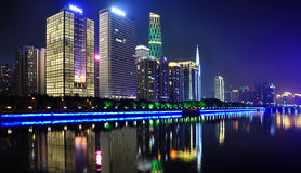 Pearl River New City Night Royalty Free Stock Image