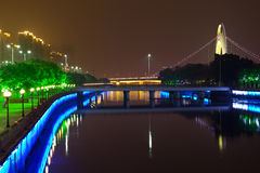 Pearl River night scene Stock Images