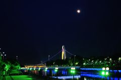 Pearl River night scene Royalty Free Stock Images