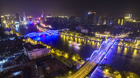The Pearl River of the seven colors Stock Photo