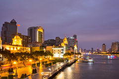 The pearl river side at night Stock Photos