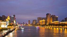 The pearl river side at night 3 Stock Image