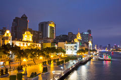The pearl river side at night Stock Image