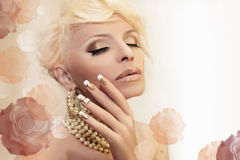 Pearl rose. Stock Images