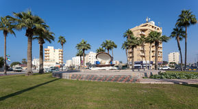 The Pearl roundabout in Ras Al Khaimah Royalty Free Stock Photo
