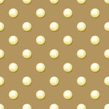 Pearl. Seamless patrn with realistic pearls . Pearl 3D Royalty Free Stock Images