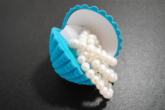 The Pearl in seashell. Stock Photography
