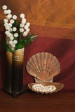 Pearl and seashell Stock Photo