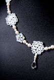 Pearl set necklace Royalty Free Stock Images