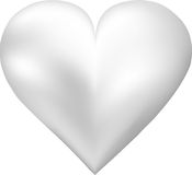 Pearl shaped heart Stock Images