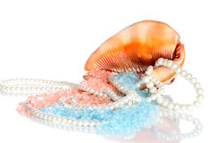 Pearl and shell Stock Images