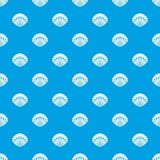 Pearl shell pattern seamless blue Royalty Free Stock Photo