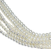 Pearl strands stock photo