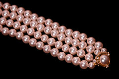 Pearl strands Royalty Free Stock Images