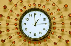 Pearl wall clock Royalty Free Stock Image