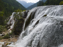 Pearl Waterfall in Jiuzhaigou, China Stock Photography
