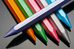 Pearl wax crayons. Stock Images