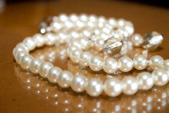 Pearl Wedding Necklace Royalty Free Stock Photos