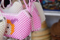 Pearl woven bag Royalty Free Stock Photo