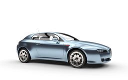 Pearlescent Blue Car Royalty Free Stock Images