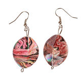 Pearlescent earrings Stock Photography