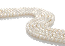 Pearls белизна Стоковое Изображение