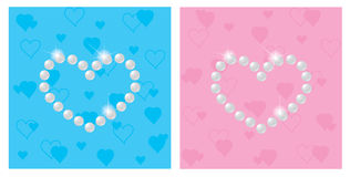 Pearls. In the form of heart, illustration Stock Photos