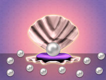 Pearls background Stock Image