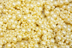 Pearls background Stock Images