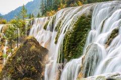 Pearls beach waterfall in autumn Stock Photo