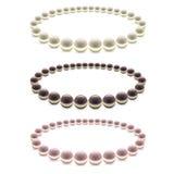Pearls Bead Decoration Set. Vector Royalty Free Stock Photo