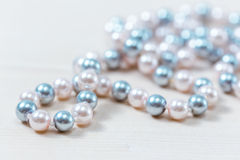 Pearls beads Stock Images