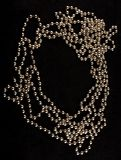 Pearls on  black  background Stock Photography