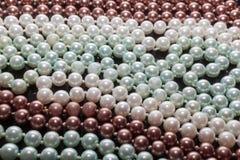Pearls. On black background in studio stock image