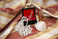 Pearls in the box Royalty Free Stock Photos