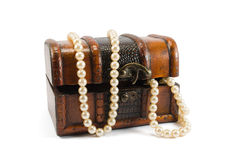 Pearls in box Stock Photo