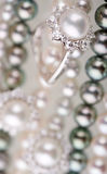 Pearls and brilliants Royalty Free Stock Images