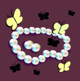 Pearls and Butterflies Royalty Free Stock Photography