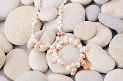 Pearls close up Stock Image