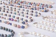 Pearls closeup Stock Images