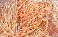 Pearls and corals Royalty Free Stock Photo