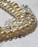 Pearls and crystals Royalty Free Stock Photo
