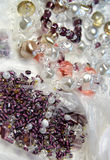 Pearls, crystals and beads Stock Photo