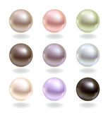 Pearls of different colors Royalty Free Stock Photo