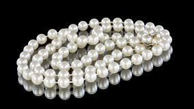 Pearls on display with the clasp Stock Photos
