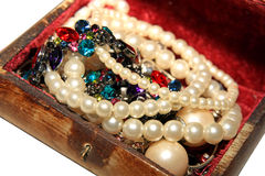 Pearls and gemstones Royalty Free Stock Images